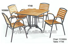 metal wooden furniture set for restaurant and canteen YC066A/YT48