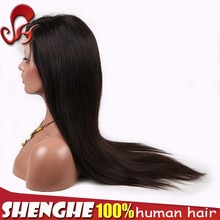 130% density swiss lace remy hair front lace wig virgin brazilian hair wig