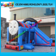 Custom Inflatable Thomas the train combo bouncer inflatable bounce slide jumping bouncer for kids