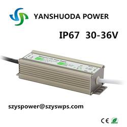 3 years wanrrany CE RoHS high lumen waterproof 1500mA 50W led driver IP67