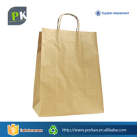 Custom Design Recycled Brown Kraft Paper Bag