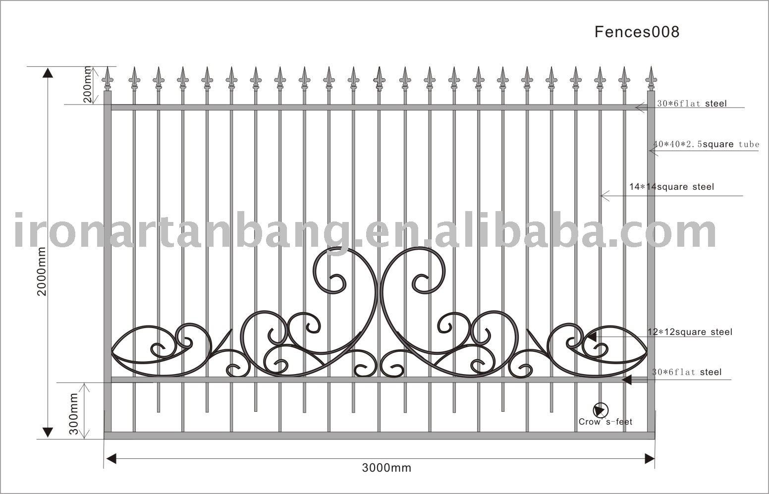 cerca de jardim ferro : cerca de jardim ferro:Wrought Iron Fence Gate