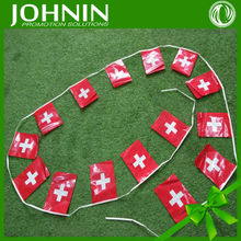 2015 high quality custom promotion PE country flag bunting