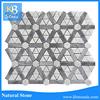 Super strip bianco carrara and italy grey marble mosaic tile kitchen backsplash