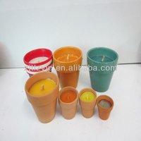 ceramic pot citronella candle