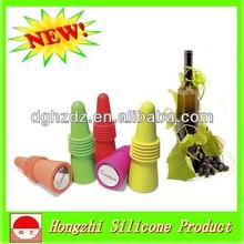 Corcho de goma siliconada plegable/ corcho de silicona para botellas de vino/ corcho personalizado para botellas de vino
