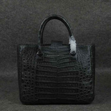 Cocodrilo real handbag_crocodile bags_grey cocodrilo bag_alligator bolsa