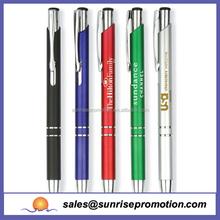 New design novelty promotional biro pen,aluminium pen