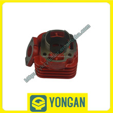Yongan Factory price red iron motorcycle cylinder block for JOG70 47mm bore engine parts