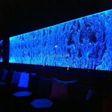 led lighting water bubble wall restaurant interior decoration design