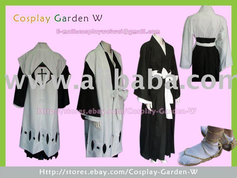 Bleach Shinigami capitán traje Cosplay del Kimono del equipo