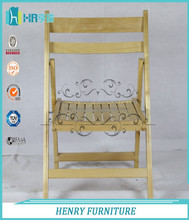 Hot Selling Natural Affordable Wooden Folding Chair Furniture