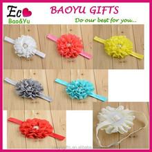 Christmas Gifts Fashion Baby Headbands Big Flower Lacework Baby Hair Band Beautiful Baby Girl Hair Accessories Infant Headband