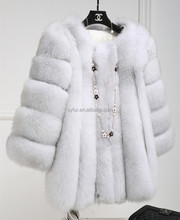 hot fashion wholesale clothing luxury garment Ladies faux fox fur coat for women and girls clothing