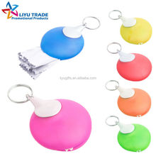 Wholesale Soft PVC Pocket Glasses Cleaner with Keychian