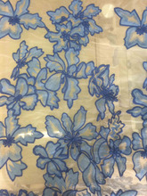 The factory wholesale 100%polyester Custom design Water soluble embroidery fabrics used for curtain