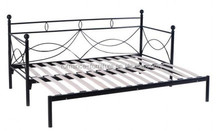 High quality modern new design solid wood double bed iron frame