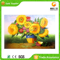Handcrafted Flower Vase Painting China Packing Artwork