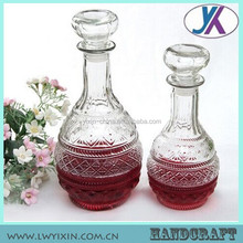 Hot sale wine silicone glass jars alcohol glass bottle