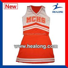 no MOQ carnival red cheerleading uniforms