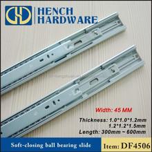 Soft close drawer slide rails,telescopic channel drawer slide,drawer runners soft close