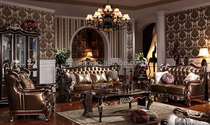 Villa Luxury Living Room Sofa Set Royal Palace Hand Carved Furniture Sofa Eur