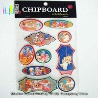 Love angle baby design scrapbook embellishment 3d paper chipboard sticker for children