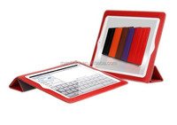 Tablet smart leather case for ipad 4
