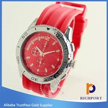 wholesal2014 fashion china manufacturer rubber sports watches silicone nautica watch for lady