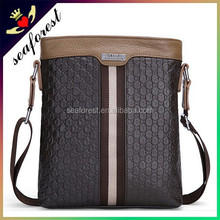 High quality genuine leather OEM mens business single shoulder bags