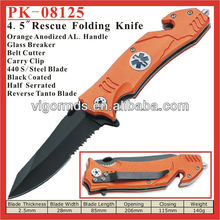 """(PK-08125) 4.5"""" Assisted Opening Outdoor Rescue Survival Folding Pocket Knife"""