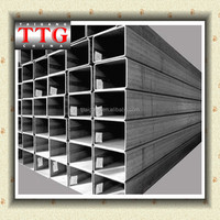 (TTG) HF ERW Welded Square And Rectangular HDG Hot Dipped Galvanized Structural HR CR Steel Pipe HFW ASTM A500 A53 STK 400 SPS