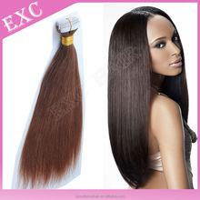 Brazilian human hair double tape hair extensions hair weft
