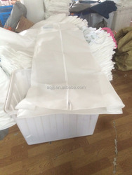 White 90gsm customized non woven wedding dress bag with/without gusset