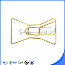 Hot selling decoration gift gold bow shape pape clip