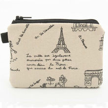 fashion fabric coin purse Eiffel Tower bag