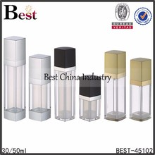 foreign country wholesale and different shapes airless containers cosmetics