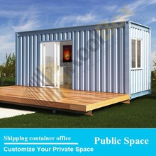 2015 the latest 20ft container office design,prefabricated personal shipping container studio