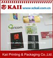 customized etiqueta etiqueta de papel del fabricante en china