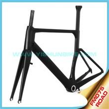 Yishunbike 700C road bike carbon frame china BB30/PF30 carbon frame braze-on china carbon bike frame FM075