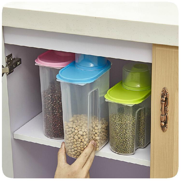 articles de cuisine en plastique c r ales contenant alimentaire distributeur bo tes caisses de. Black Bedroom Furniture Sets. Home Design Ideas
