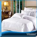 2014 nuevo estilo algodón poliéster hotel blanco lecho colchas de cama