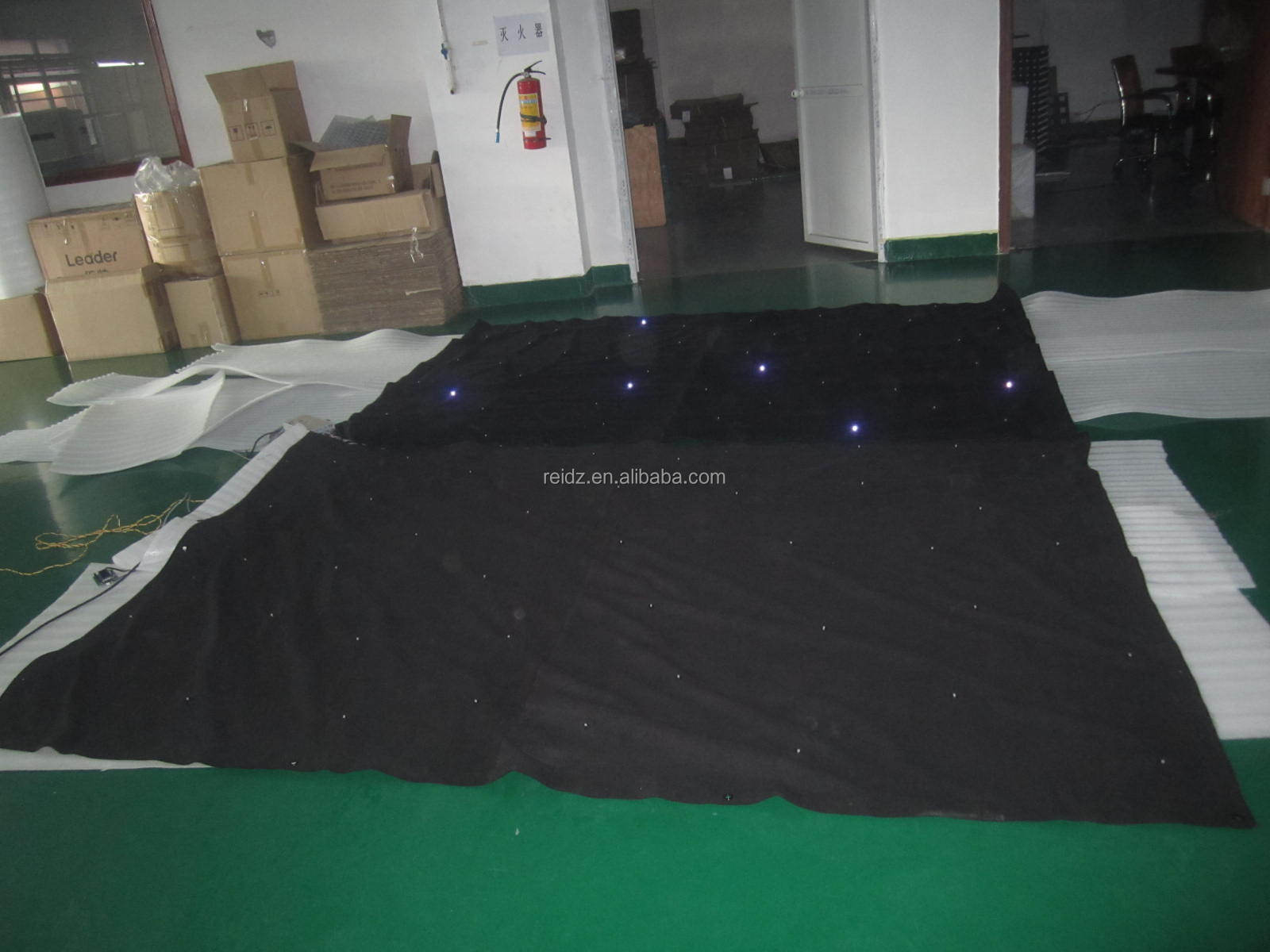 Fabric Led Wedding Stage Backdrop Decorationfolding Star Led