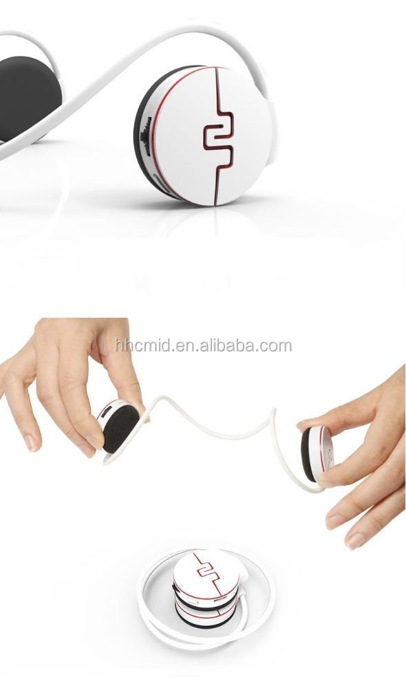 new sim card slot headphones heart rate monitor pedometer fm wireless bluetooth earbuds 2015. Black Bedroom Furniture Sets. Home Design Ideas