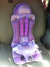 Car Interior Child Safety Seats Car Safety Seat To Ensure The Safety Of Children Yellow Brown Blue Purple Red Brown Suede Materi