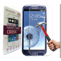 For Samsung galaxy S3 tempered glass 0.26mm 2.5d round edge screen protector with retail packege