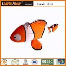 2015 new design hotsell lovely fish toy/plush diy animal shaped pillow /plush animal dachshund shaped pillow