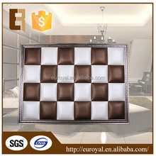 Decorative 3D Leather Acoustic waterproof bathroom wall panels with flocking material