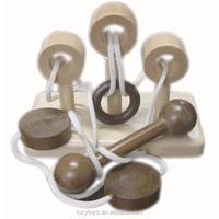 high quality promotional wooden string brain teasers puzzle