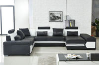 2015 leather sofa fashion massage sofa with heating corner furniture pieces